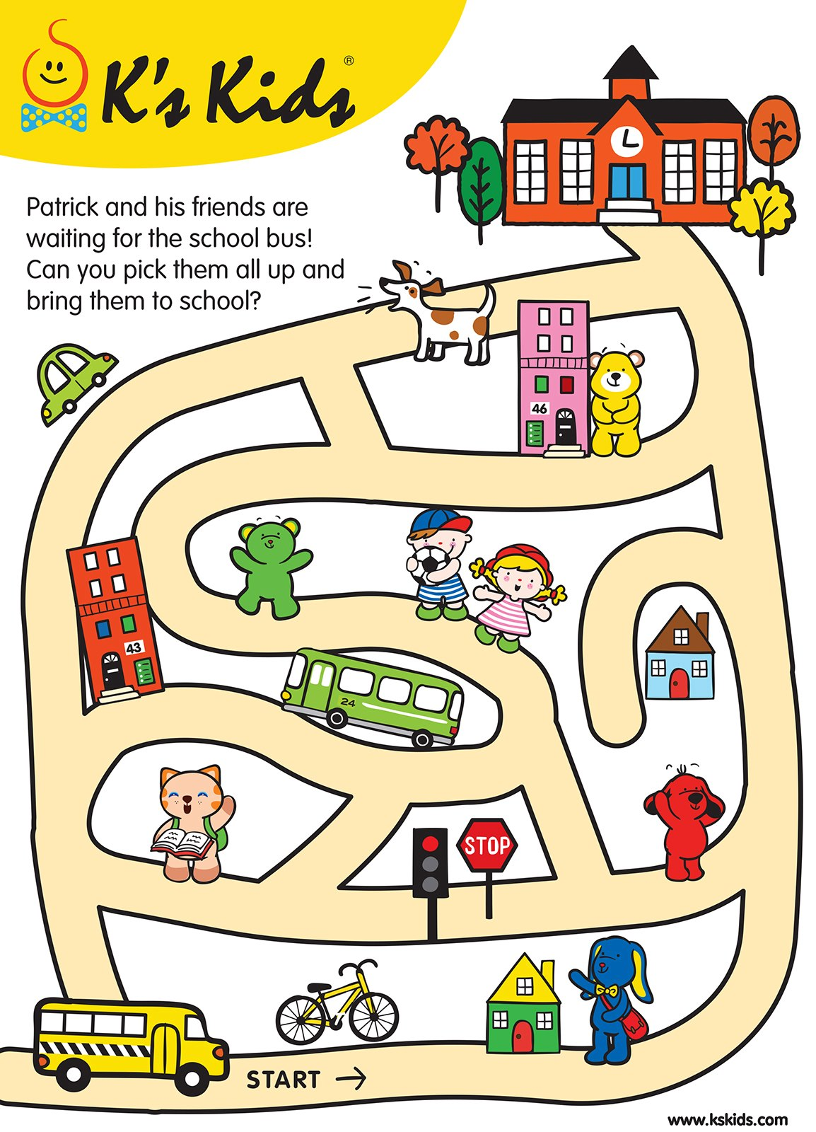 Patrick and his friends are waiting for the school bus! Can you pick ...
